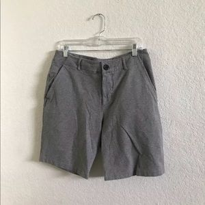 LULULEMON SOFT COTTON SWEAT SHORTS GRAY  34